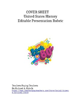 Editable Presentation Rubric
