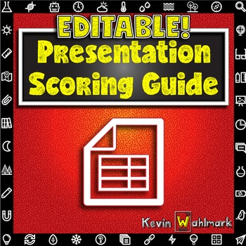 Editable Presentation Scoring Guide Rubric