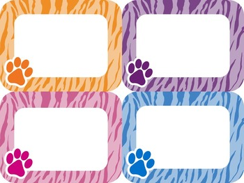 Editable Pretty Paw Labels