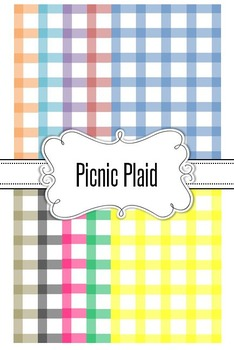 Editable Primary Plaid Backgrounds