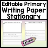 Editable Primary Writing Paper {Easy Auto-Fill}  Edit Title and Starter Sentence