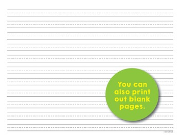 Editable Print-Practice Paper - Smaller Traceable Text - For Big Kids