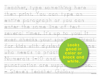 Editable Print-Practice Paper - Small Traceable Text For Big Kids