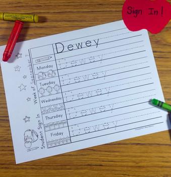 practice writing for kindergarten