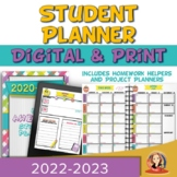 Editable Print and Digital Student Planner for Distance Learning