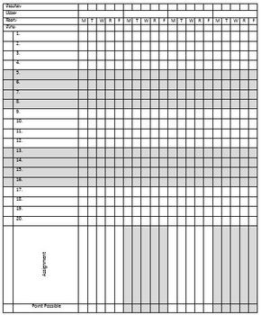 graphic relating to Printable Gradebook Template Editable named Editable, Printable Gradebook Template