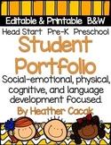Student Portfolio Editable & Printable {PowerPoint} Preschool Pre-K Head Start