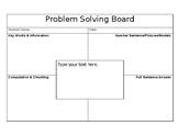 Editable Problem Solving Board/Mat