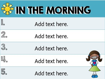 BACK TO SCHOOL Editable Routine and Procedure Posters