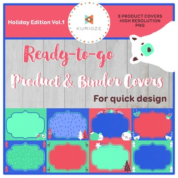 Editable Product & Binder Covers - Holiday Edition Vol.1 {KURIOZE - Clipart}