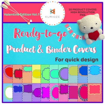 Editable Product & Binder Covers - Valentine Edition Vol.1 {KURIOZE - Clipart}