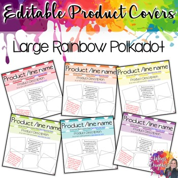 Editable Product Covers- Large Polka Dots
