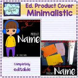 Editable Product Square Cover Templates - Minimalistic des
