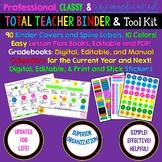 Editable, Professional, Classy, Easy TEACHER BINDER with Lifetime Updates!