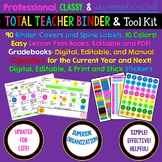Editable, Professional, Classy, Easy TEACHER BINDER with L