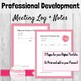 Editable Professional Development Log