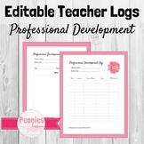 Editable Professional Development Log
