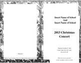 Editable Program for Christmas Concert Chorus or Band