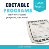 Editable Programs {Templates for programs, concerts, plays, and more}