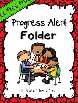 Editable Progress Alert Folder {freebie}