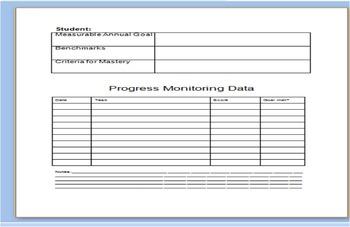 Editable Progress Monitoring Data