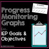 Editable Progress Monitoring Graphs for IEP Goals & Objectives