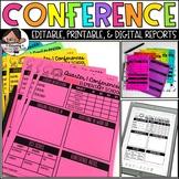 Parent Conference | Progress Reports (Editable)