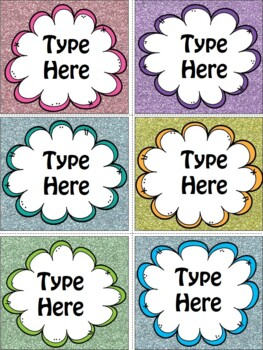 Editable Labels-Puffy Labels