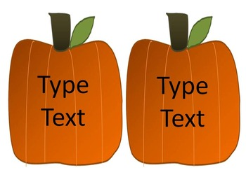Editable Pumpkin Fall Labels for your Classroom and Home