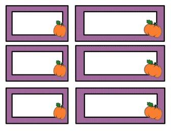 Editable Pumpkin Labels