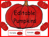 Free Editable Pumpkin Labels