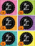 Editable Labels- Pumpkin Labels