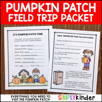 Pumpkin Patch Field Trip Activities