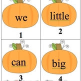 Editable Pumpkin Sight Word Search