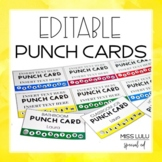Editable Punch Pass Cards