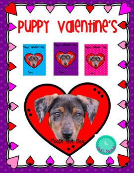 Editable Puppy Valentine's