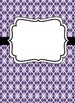 Editable Purple Binder Covers