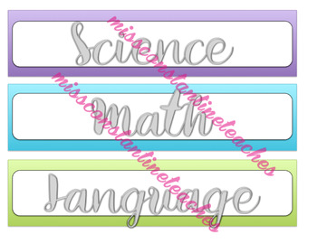 Editable Purple, Blue, and Green Sterilite Drawer Labels
