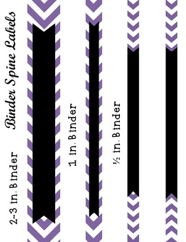 Editable Purple Chevron and Quatrefoil Binder Cover and Spine Label