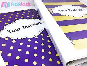 Editable Purple Gold Color Scheme Class Decor Kit