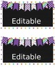 15 qt Editable Labels - purple