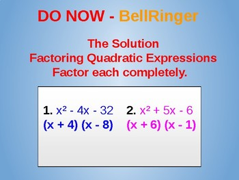 Editable Quadratic Functions Part 2