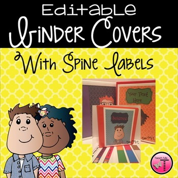 Editable Quatrefoil Binder Covers & Spine Labels {Featuring Ta-Doodles}