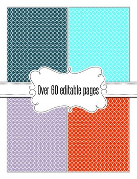 Editable Quatrefoil Backgrounds