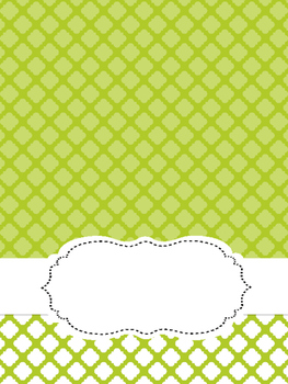 Editable Quatrefoil Binder Cover Pages
