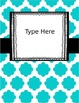 {Editable} Quatrefoil Binder Covers w/Doodle Frames! Set 7