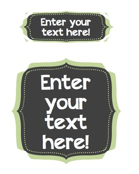 Editable Quatrefoil Chalkboard Labels {FREEBIE!!}