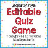 Jeopardy Quiz Game Template Editable Keynote Presentation