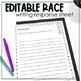 Editable RACE Writing Response Sheet   RACE Bulletin Board Display