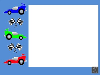 Editable Racing Themed Welcome Powerpoint